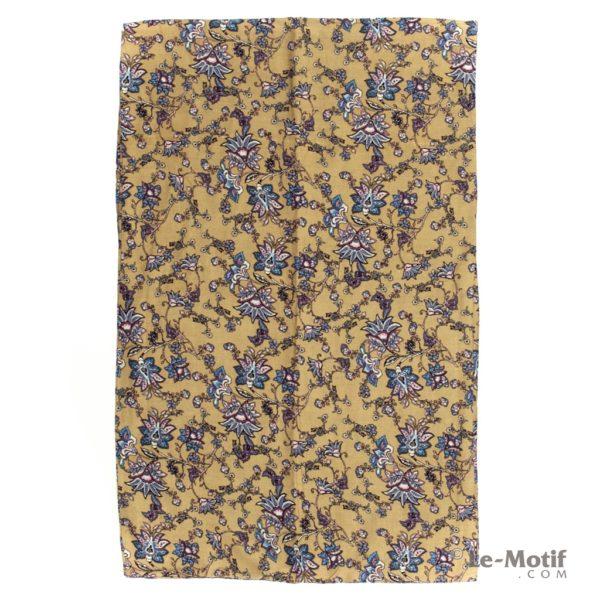 Шарф-снуд Le Motif из шелка и хлопка изображение цветов BT02-1