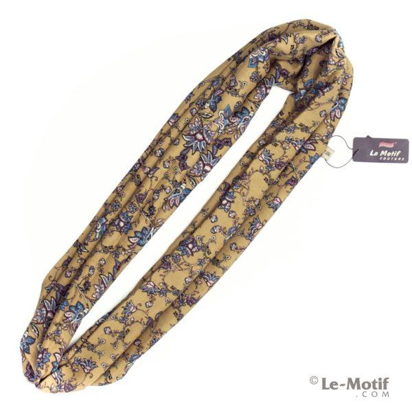 Шарф-снуд Le Motif из шелка и хлопка. Фото для каталога, BT02-1