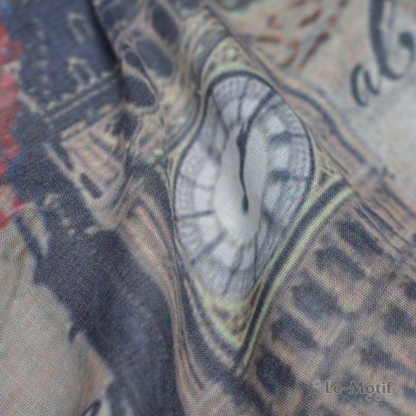 Палантин Le Motif из шелка и хлопка. Фото ткани, арт. GD06-1