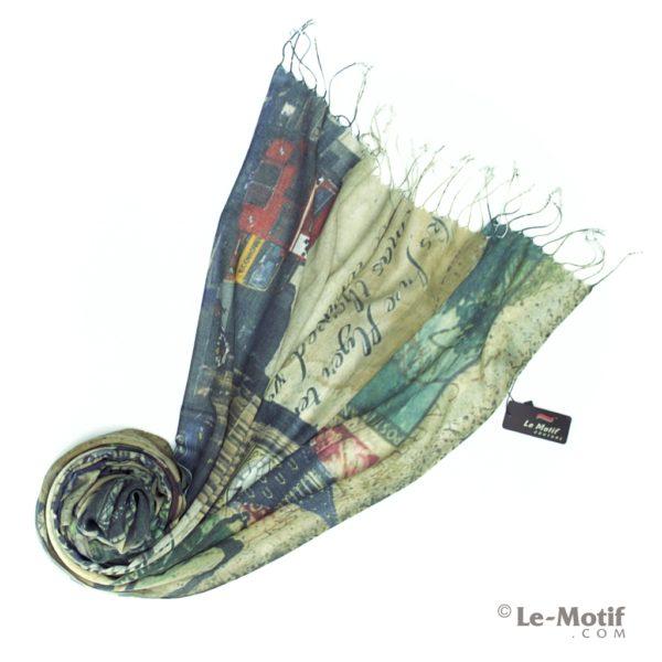 Палантин Le Motif из шелка и хлопка. Фото для каталога GD06-1.