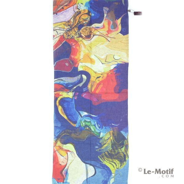 Палантин Le Motif из шелка и хлопка. Изображение абстракция