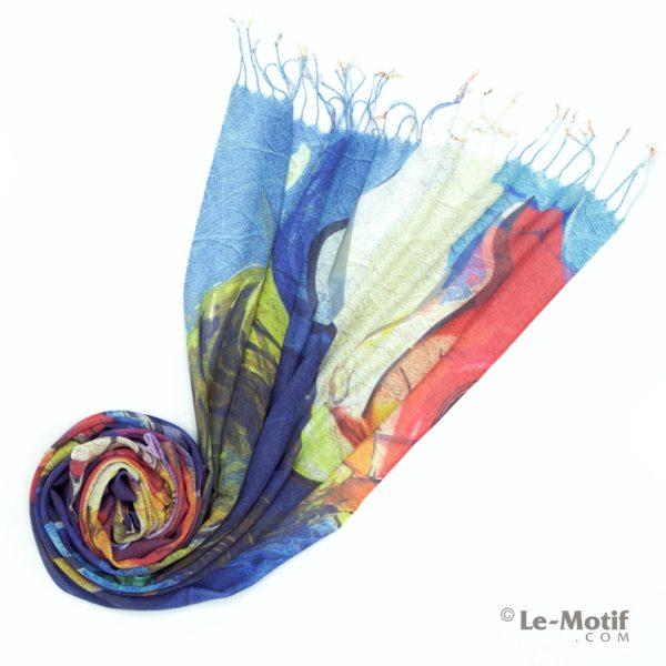 Палантин Le Motif из шелка и хлопка Фото для каталога