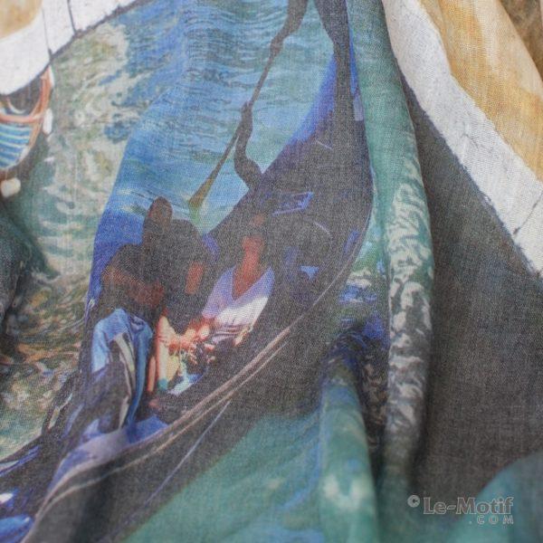 Платок Le Motif из шелка и хлопка Фото ткани, арт. GDF15-592