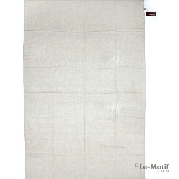 Палантин Le Motif из шелка и хлопка бежевый, арт.LX01-02