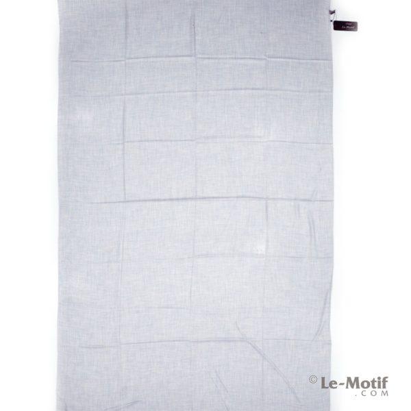 Палантин Le Motif из шелка и хлопка серый, арт.LX01-1