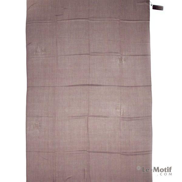 Палантин Le Motif из шелка и хлопка коричневый, арт.LX01-10