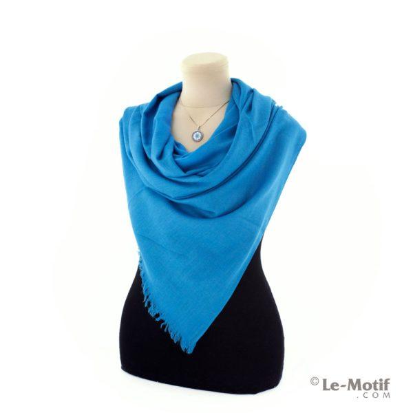 Палантин Le Motif из шелка и хлопка на шее, LX01-30