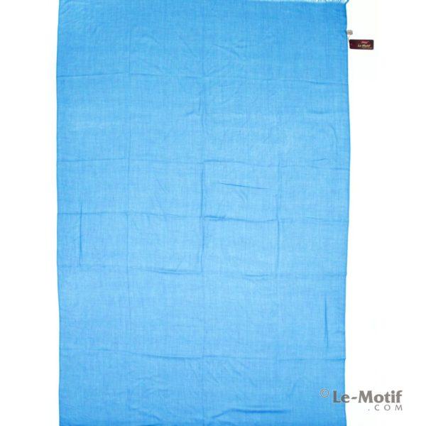 Палантин Le Motif из шелка и хлопка голубой, арт.LX01-30