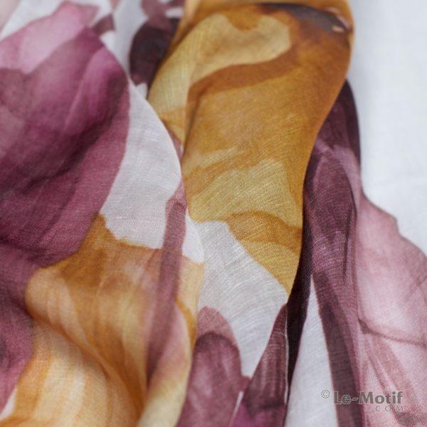 Палантин Le Motif из льна и модала. Фото ткани, арт. 16ML006