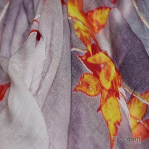 Палантин Le Motif из льна и модала. Фото ткани, арт. 16ML007