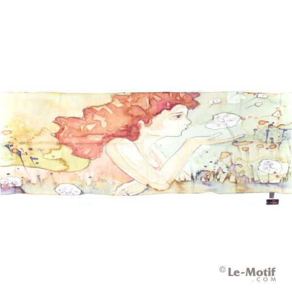 Палантин Le Motif из льна и модала нежная, романтичная картина