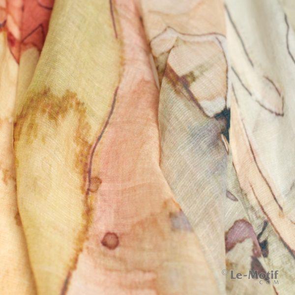 Палантин Le Motif из льна и модала. Фото ткани, арт. 16ML008