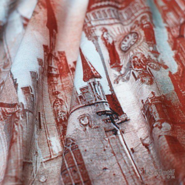 Платок Le Motif Couture из шелка и хлопка. Фото ткани, арт. S13-1