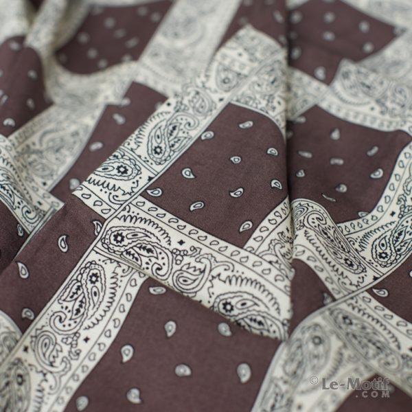 Платок Le Motif из шелка и хлопка. Фото ткани, арт. S171-1