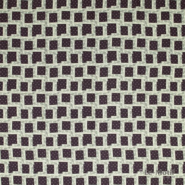 Платок Le Motif Couture из шелка и хлопка орнамент Пейсли
