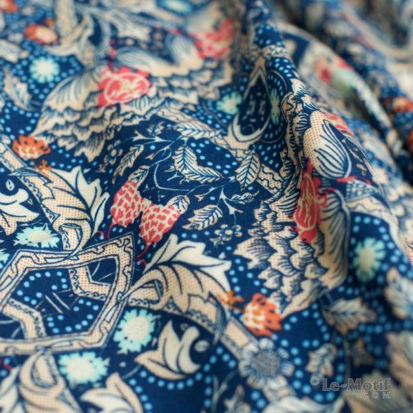 Платок Le Motif из шелка и хлопка. Фото ткани, арт. S181-1