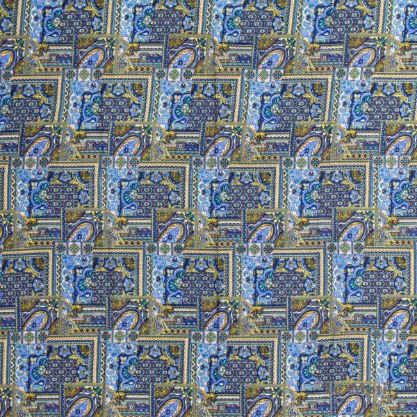 Платок Le Motif из шелка и хлопка изображение-орнамент Пейсли