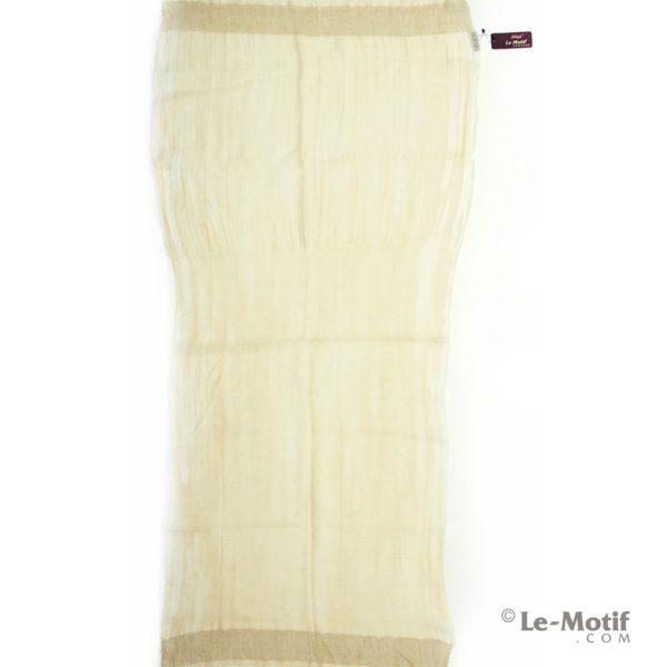 Палантин Le Motif из шелка и шерсти цвет - бежевый, арт SP-100-1