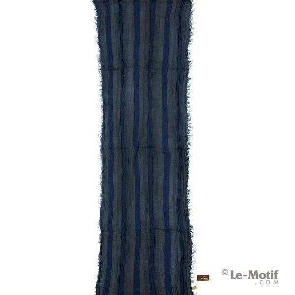 Шарф Le Motif Couture из льна и хлопка синий, арт. STD01-1