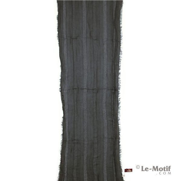 Шарф Le Motif Couture из льна и хлопка серый, арт. STD01-2