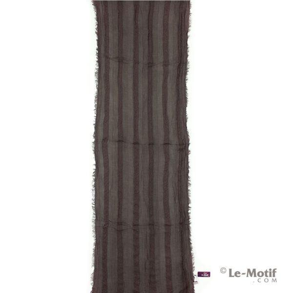 Шарф Le Motif Couture из льна и хлопка коричневый, арт. STD01-3