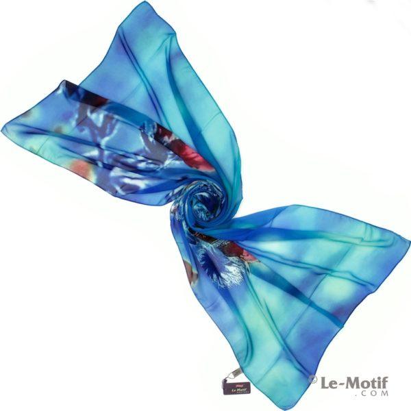 Палантин Le Motif из шелка с вискозой Фото для каталога