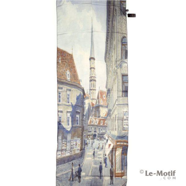 Палантин Le Motif из шелка с вискозой картина-немецкий город
