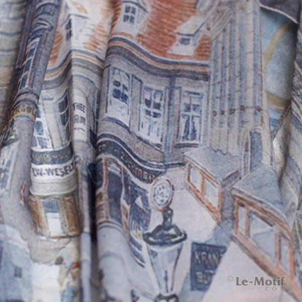Палантин Le Motif Couture из шелка с вискозой Фото ткани