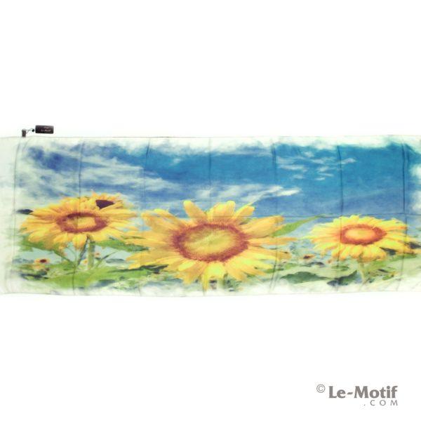 Палантин Le Motif из шелка с вискозой солнечные подсолнухи