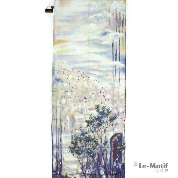 ПалантинLe Motif Couture из шелка с вискозой пейзаж