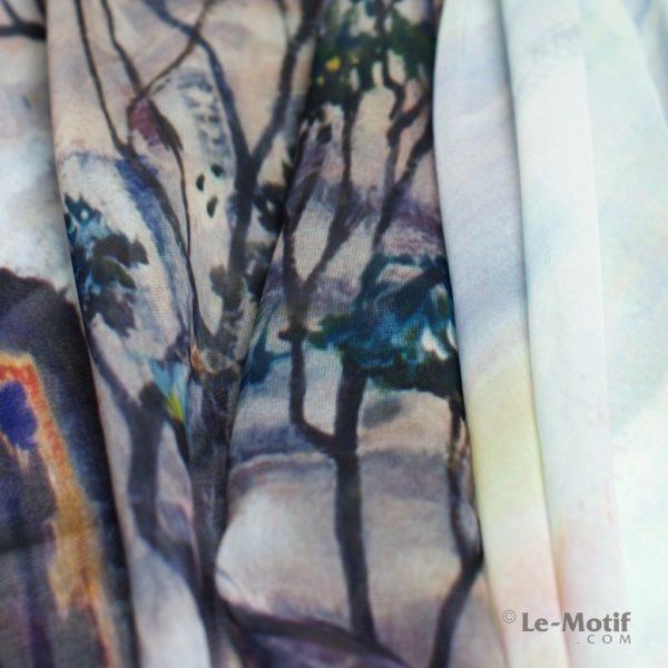 Палантин Le Motif Couture из шелка с вискозой. Фото ткани