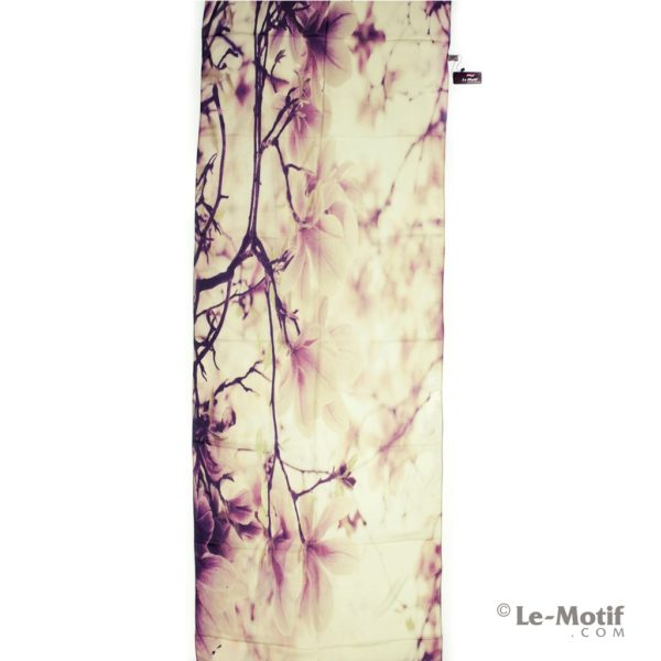 Палантин Le Motif из шелка с вискозой картина-ветка дерева в цветах