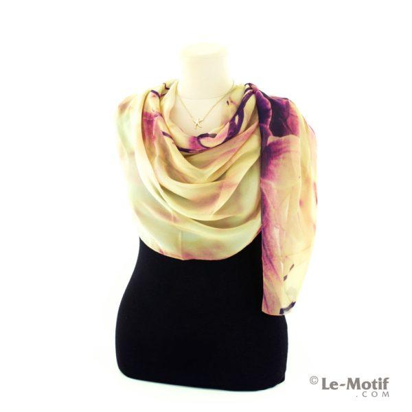 Палантин Le Motif Couture из шелка с вискозой как красиво завязать