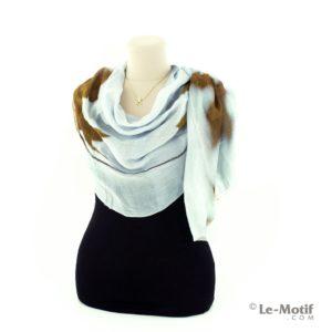 Палантин Le Motif Couture из шелка и хлопка как красиво завязать