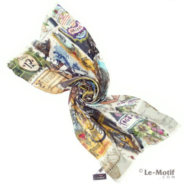 Палантин Le Motif Couture из шелка и хлопка. Фото для каталога