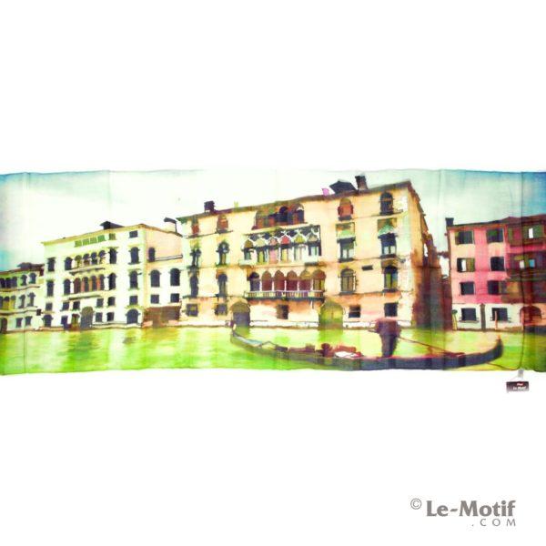 Палантин Le Motif из шелка и хлопка картина-прогулка на гондоле