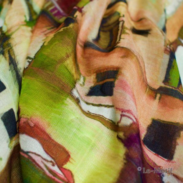 Палантин Le Motif Couture из шелка и хлопка. Фото ткани