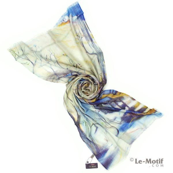Палантин Le Motif Couture из шелка и хлопка Фото для каталога