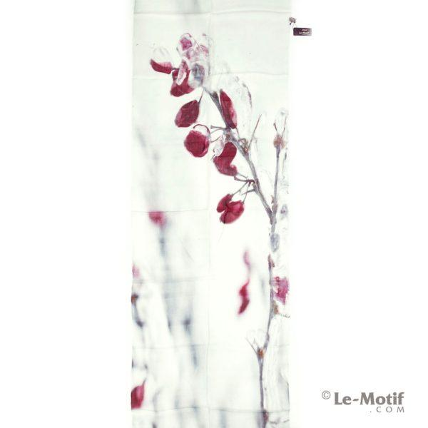 Палантин Le Motif из шелка и хлопка изображение крысных цветов