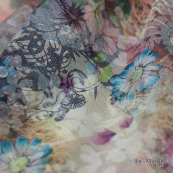 Платок Le Motif из хлопка с вискозой. Фото ткани 2, арт. TM75-2