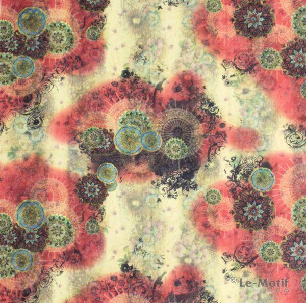 Платок Le Motif из хлопка с вискозой изображение цветов TM75-2