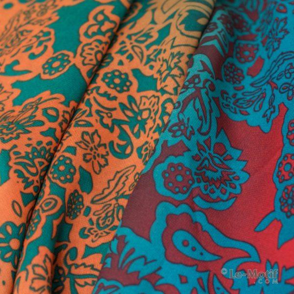 Шарф-долька Le Motif из шелка с вискозой. Фото ткани, XK01-29