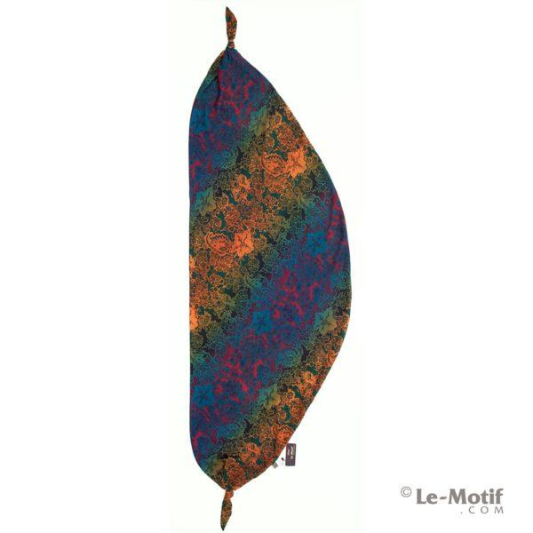 Шарф-долька Le Motif из шелка с вискозой цветочные узоры