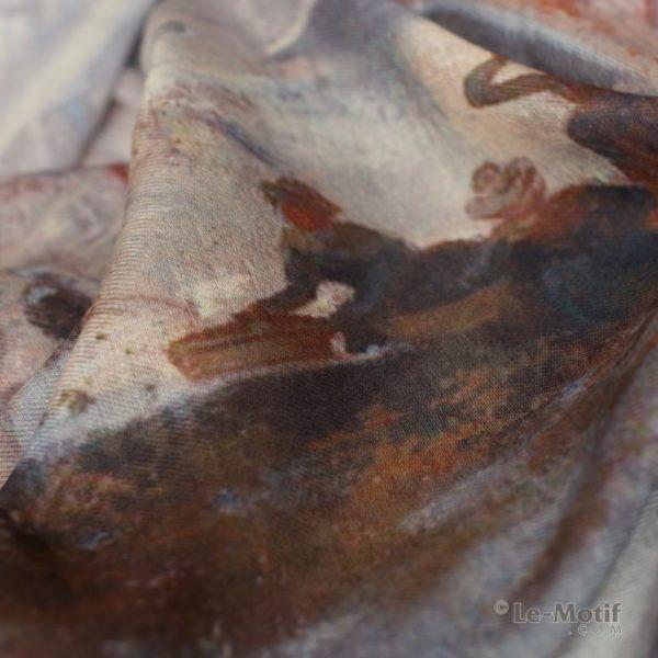 Палантин Le Motif из хлопка с вискозой. Фото ткани, арт. XW15-3
