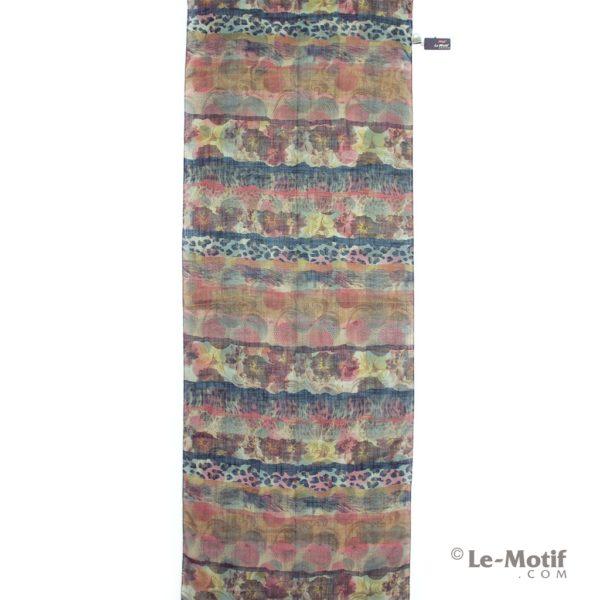 Палантин Le Motif из льна с вискозой узоры, арт.Z126-1X