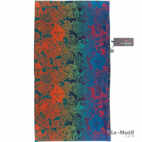 Шарф-снуд Le Motif Couture из хлопка. Яркие цветочные узоры