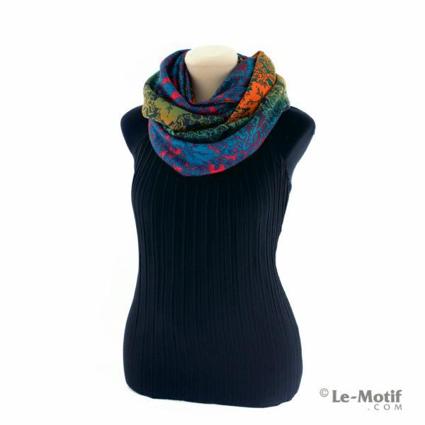 Шарф-снуд Le Motif Couture из хлопка. Как красиво завязать.