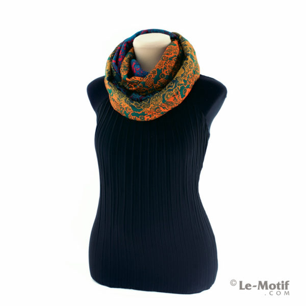 Шарф-снуд Le Motif Couture из хлопка. Способ завязывания.