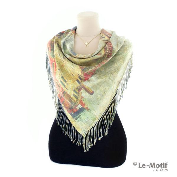 Платок Le Motif из шерсти и хлопка на шее, арт. 15GF227