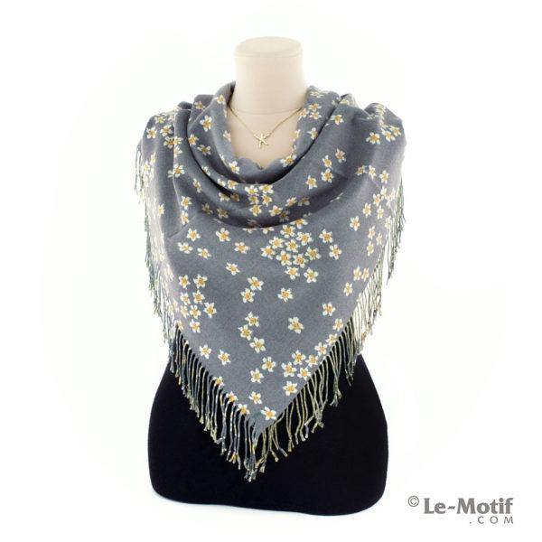 Платок Le Motif Couture из шерсти и хлопка. Способ завязывания